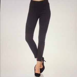 Black Moto Stretchy Biker Leggings